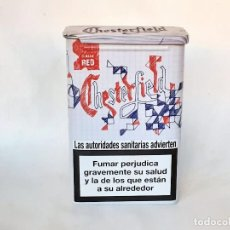 Paquetes de tabaco: CAJA METALICA TABACO CHESTERFIELD. Lote 191995478