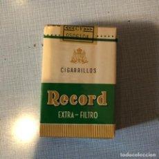 Paquetes de tabaco: ANTIGUO PAQUETE DE TABACO CIGARRILLOS, RECORD, EXTRA FILTRO, SIN ABRIR.. Lote 192355853