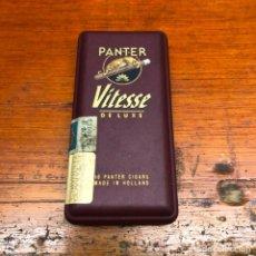 Paquetes de tabaco: ANTIGUO PAQUETE DE PURITOS PANTER VINTESSE DE LUXE. ABIERTO. Lote 192360060