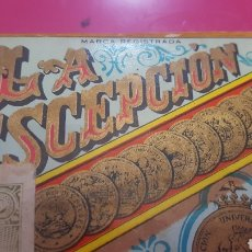 Paquetes de tabaco: LA ESCEPCION. PICADURA SELECTA EXTRA-FINA. MEDIA LIBRA. CERRADO. COMPLETO. Lote 192722626