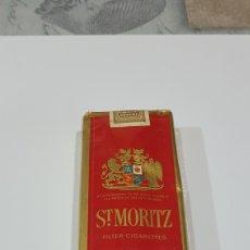 Paquetes de tabaco: PAQUETE DE TABACO ST. MORITZ. Lote 194217131