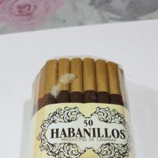 Paquetes de tabaco: PAQUETE DE 50 HABANILLOS. Lote 194223532