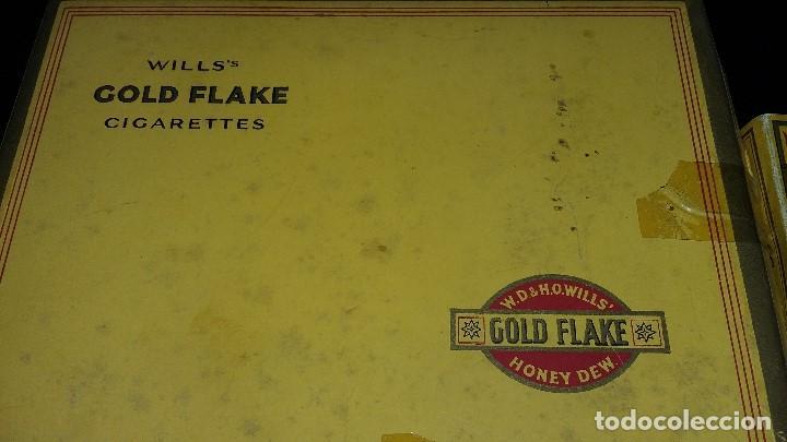 Paquetes de tabaco: 6, PAQUETES CIGARRILLOS GOLD FLAKE 5, CAJA CERILLAS BRYMAY- INGLATERRA, VACIOS - Foto 3 - 194241388
