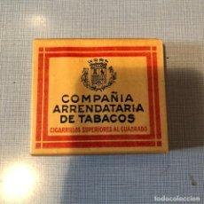 Paquetes de tabaco: ANTIGUO PAQUETE DE TABACO COMPAÑIA ARRENDATARIA DE TABACOS, SIN ABRIR. Lote 194298067