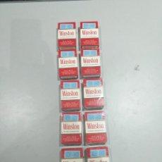Paquetes de tabaco: LOTE DE 10 PAQUETES WINSTON ANTIGUOS SIN ABRIR PARA COLECCIONAR- VER LAS FOTOS. Lote 194354208