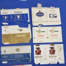 Paquetes de tabaco: LOTE 8 ENVOLTORIOS DE TABACO SURTIDOS. Lote 194616211