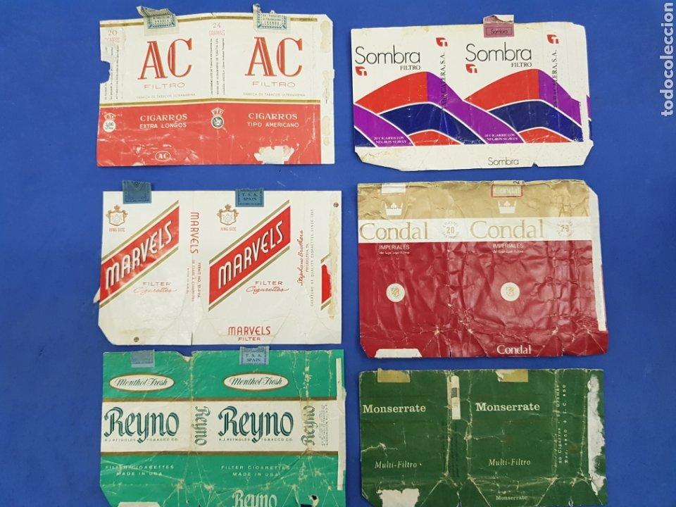 LOTE 6 ENVOLTORIOS DE TABACO SURTIDOS (Coleccionismo - Objetos para Fumar - Paquetes de tabaco)
