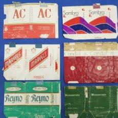 Paquetes de tabaco: LOTE 6 ENVOLTORIOS DE TABACO SURTIDOS. Lote 194616902