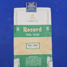 Paquetes de tabaco: ENVOLTORIO DE TABACO RECORD EXTRA LARGOS. Lote 194617342