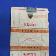 Paquetes de tabaco: ENVOLTORIO DE TABACO, EL KAISER. Lote 194620002