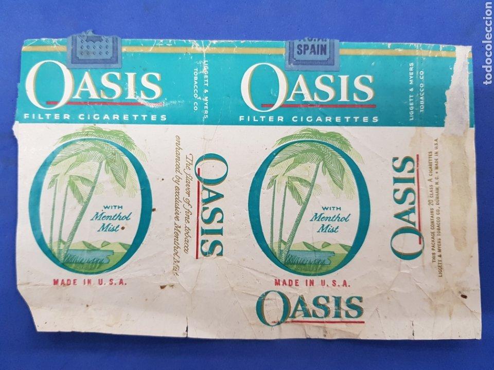 ENVOLTORIO DE TABACO OASIS (Coleccionismo - Objetos para Fumar - Paquetes de tabaco)