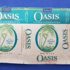 Paquetes de tabaco: ENVOLTORIO DE TABACO OASIS. Lote 194620171