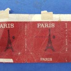 Paquetes de tabaco: ENVOLTORIO DE TABACO PARIS. Lote 194620558