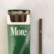 Paquetes de tabaco: MORE CAJA DE CIGARROS MENTOLADOS CAJA VERDE. Lote 194648692