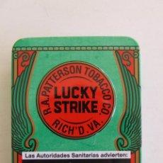 Paquetes de tabaco: CAJA METALICA CENICERO TABACO LUCKY STRIKE CIGARRILLOS. Lote 194712127