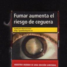 Paquetes de tabaco: CAJETILLA VACÍA DE MARLBORO - NUESTRO MUNDO ES UNA EDICIÓN LIMITADA -. Lote 194956350