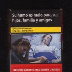 Paquetes de tabaco: CAJETILLA VACÍA DE MARLBORO - NUESTRO MUNDO ES UNA EDICIÓN LIMITADA -. Lote 194956727