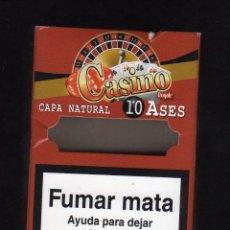 Paquetes de tabaco: CAJETILLA VACÍA DE CASINO ROYALE (10 ASES CAPA NATURAL). Lote 194958160