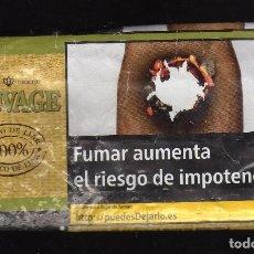 Paquetes de tabaco: PAQUETE VACÍO DE TABACO PARA LIAR SAUVAGE (30 GRAMOS). Lote 194959028