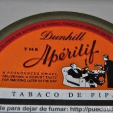 Paquetes de tabaco: LATA DE TABACO DE PIPA DUNHILL THE APÉRITIF LLENA Y SELLADA AL VACIO. Lote 194978062