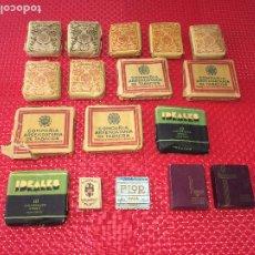 Paquetes de tabaco: LOTE DE PAQUETES DE TABACO DE LOS AÑOS 40 - 13 PAQUETES - COMPAÑÍA ARRENDATARIA DE TABACOS. Lote 195006385