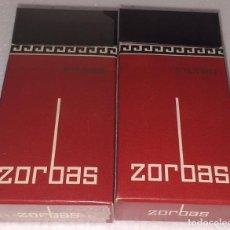 Paquetes de tabaco: TABACO ZORBAS FILTRO 2 CAJETILLAS ISLAS CANARIAS. Lote 195051375