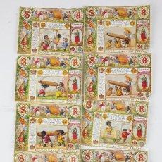 Paquetes de tabaco: 9 MARQUILLAS DE TABACO LA HONRADEZ, CUBA, HABANA. SIGLO XIX. Lote 195189906