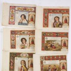 Paquetes de tabaco: 8 MARQUILLAS DE TABACO LA HONRADEZ, HABANA, CUBA. SIGLO XIX.. Lote 195190481