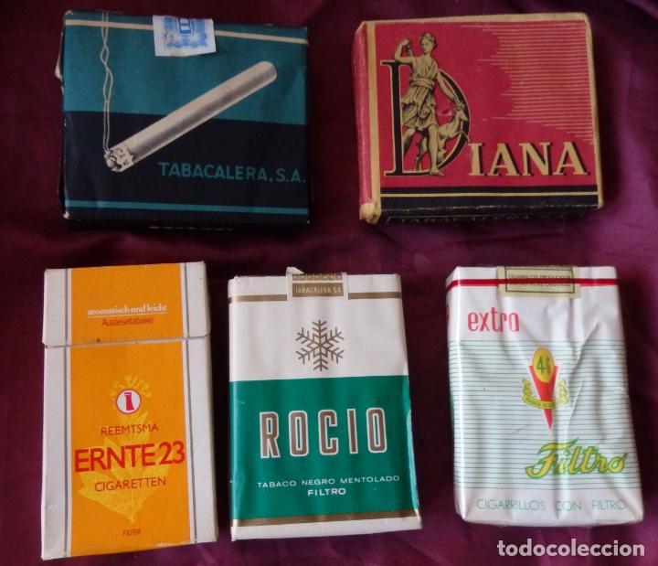 5 PAQUETE DE TABACO IDEALES, DIANA, 46, ROCIO (Coleccionismo - Objetos para Fumar - Paquetes de tabaco)