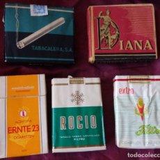 Paquetes de tabaco: 5 PAQUETE DE TABACO IDEALES, DIANA, 46, ROCIO. Lote 195253088
