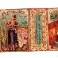 Paquetes de tabaco: ENVOLTORIO CAJA DE CIGARROS CHORRITO DE CAMÚ. LA COMPETIDORA. ENRIQUE CARUANA. FILIPINAS, MANILA. Lote 195275970