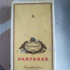 Paquets de cigarettes: CAJETILLA 5 PARTAGAS COMPLETA. Lote 195436000