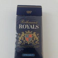 Paquetes de tabaco: PAQUETE DE TABACO ROTHMANS ROYALS CIGARRILLOS VACIO.. Lote 195488901