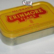 Paquetes de tabaco: TABACO DE PIPA MURRAY´S ERINMORE FLAKE, LLENA Y SIN USAR, TODAVÍA COMPACTO, IRLANDA, CAJA METAL A4. Lote 195524187