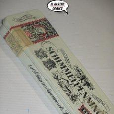 Paquetes de tabaco: DOS CIGARROS + CAJA METAL SCHIMMELPENNINCK DUET WAGENINGEN, HOLANDA, A4. Lote 195524327