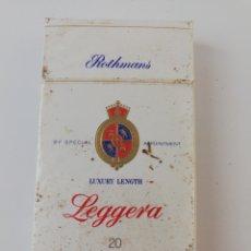 Paquetes de tabaco: PAQUETE DE TABACO ROTHMANS LEGGERA INGLATERRA CIGARRILLOS LLENO PRECINTADO.. Lote 195539273