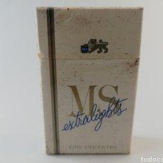 Paquetes de tabaco: PAQUETE DE TABACO MS EXTRALIGHTS ITALIA CIGARRILLOS PRECINTADO LLENO.. Lote 195544027