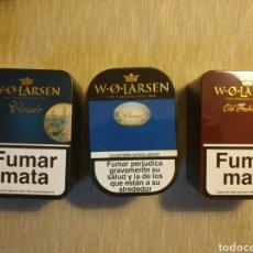 Maços de tabaco: LOTE DE TRES LATAS LLENAS DE TABACO DE PIPA W,O,LARSEN.. Lote 195750223