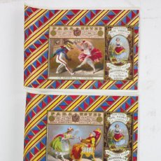 Maços de tabaco: 3 MARQUILLAS DE TABACO DE LA HABANA, CUBA, DEL AÑO 1860 APROX. ESTAMPACIÓN CON DORADOS 10X14 CM.. Lote 196905302