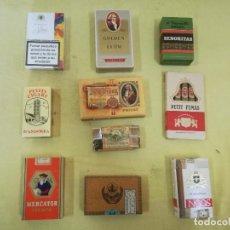 Maços de tabaco: LOTE DE 10 PAQUETES DE TABACO, VARIAS MARCAS, PARA COLECCIÓN O DECORACIÓN. Lote 197297463