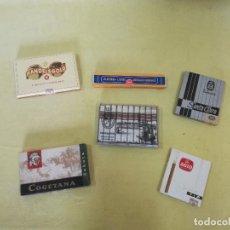 Maços de tabaco: LOTE DE 6 PAQUETES DE TABACO O PUROS, VARIAS MARCAS, PARA COLECCIÓN O DECORACIÓN. Lote 197298411