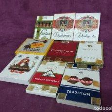 Maços de tabaco: LOTE DE UNOS 9 PAQUETES DE TABACOS, VARIAS MARCAS, LLENAS Y PRECINTADAS. Lote 197409375
