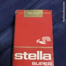 Maços de tabaco: ANTIGUO PAQUETE DE TABACO STELLA SUPER CONTIENE 3 CIGARRILLOS FRANCIA. Lote 197573571
