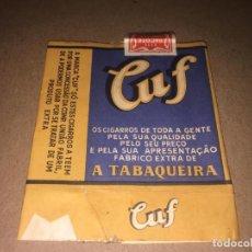 Maços de tabaco: ANTIGUO ENVOLTORIO PAQUETE DE TABACO CIGARRILLOS CUF PORTUGAL. Lote 197724037