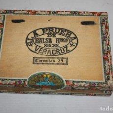 Paquetes de tabaco: CAJA PRECINTADA DE PUROS. BALSA HERMANOS. LA PRUEBA. VERACRUZ. MEXICO. 25 CORONITAS. ORIGINAL. Lote 198664955