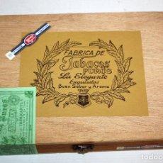 Paquetes de tabaco: CAJA PRECINTADA DE TABACOS LA ELEGANTE. PUROS. EXCELENTE ESTADO. Lote 198665797