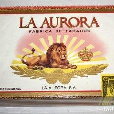 Paquetes de tabaco: CAJA CIGARROS - LA AURORA. REPUBLICA DOMINICANA. SELLADA SIN ABRIR. FABRICA DE TABACOS. CIGARS. Lote 198723431