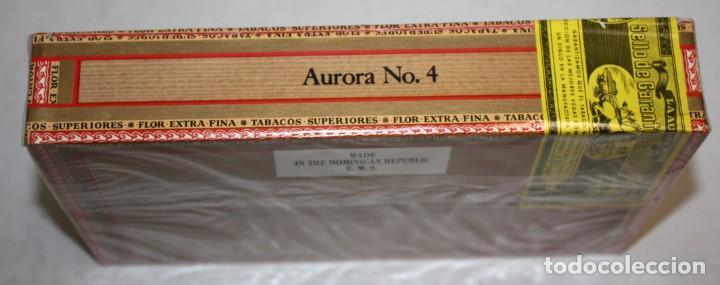 Paquetes de tabaco: CAJA CIGARROS - LA AURORA. REPUBLICA DOMINICANA. SELLADA SIN ABRIR. FABRICA DE TABACOS. CIGARS - Foto 2 - 198723431