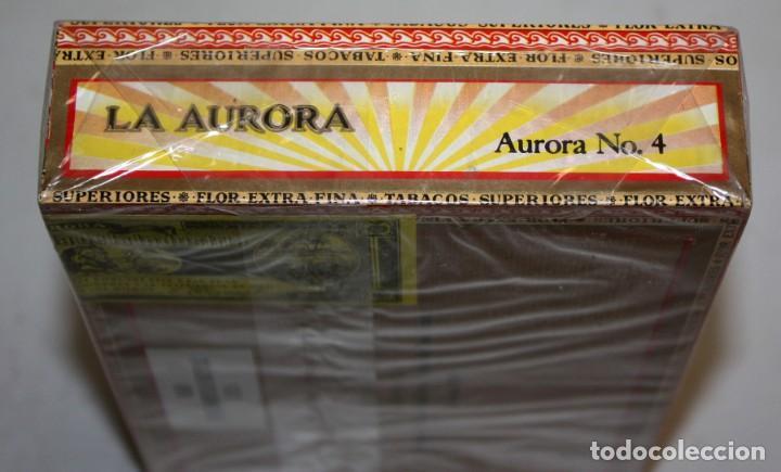 Paquetes de tabaco: CAJA CIGARROS - LA AURORA. REPUBLICA DOMINICANA. SELLADA SIN ABRIR. FABRICA DE TABACOS. CIGARS - Foto 3 - 198723431