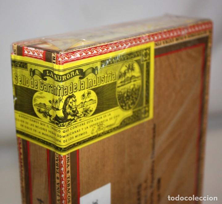 Paquetes de tabaco: CAJA CIGARROS - LA AURORA. REPUBLICA DOMINICANA. SELLADA SIN ABRIR. FABRICA DE TABACOS. CIGARS - Foto 4 - 198723431